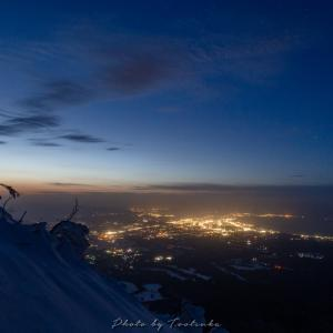 大山6合目の夕景