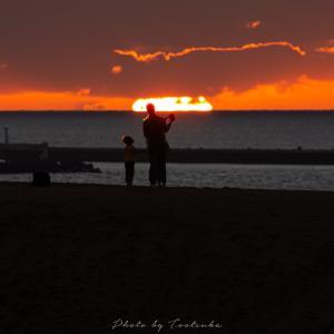 砂丘の夕焼け