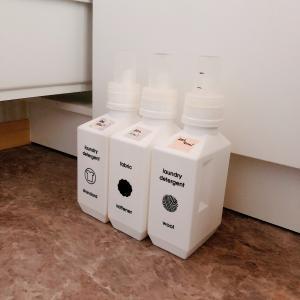 洗濯洗剤のおしゃれな詰め替えボトルでちょっと困ったこと