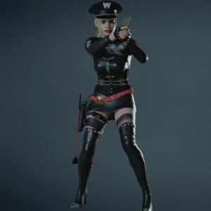 BIOHAZARD RE:2 クレアコスチュームMOD Claire Bad Cop Warden