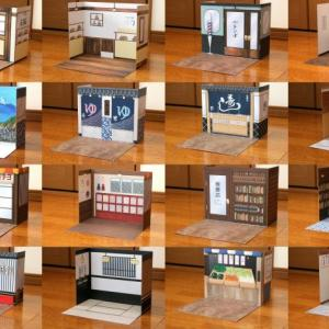 キャンドゥのレトロ商店街背景ボード8種のご紹介