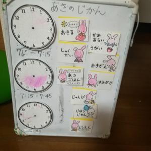 小学校準備 登校までの時間編 ゲーム感覚でテキパキタイム♪