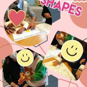 英語で形遊び 親子で色んな形を作ってみよう