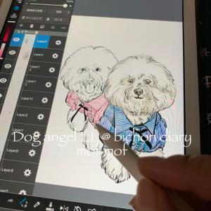 アップルペンシルで愛犬を描こう!完成ビションフリーゼ★ポムエル編