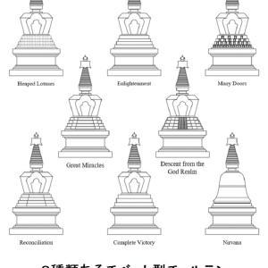 144 チベット型チョルテンは仏陀の生涯を表わす