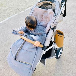 【育児日記】娘の冬支度は着々と。ベビーカーにフットマフをつけました!