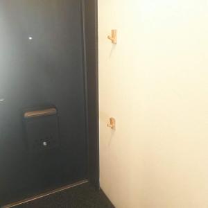 水拭き6日め:玄関のドアと壁を水拭き(泡)しました
