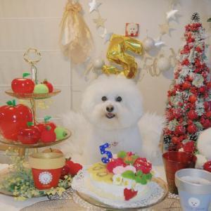 ベルばらケーキ&牛ヒレステーキでお祝い♪