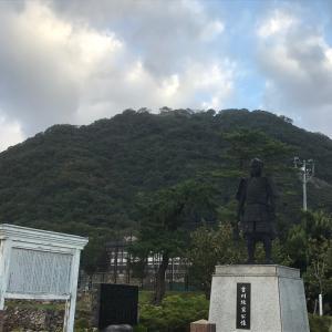 鳥取城で朝ラン。