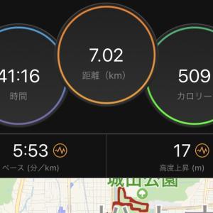 昨日は松山で朝ラン。今朝徳島でのランはなし。
