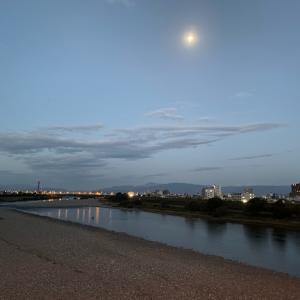今日も岐阜で朝ラン。