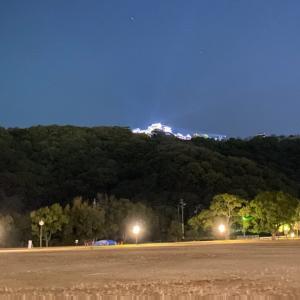 昨日は夜ラン。今日から和歌山に出張です。