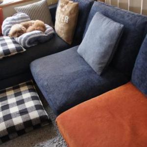 すすけたソファーカバー
