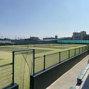ソフトテニスの試合に帯同参加です。