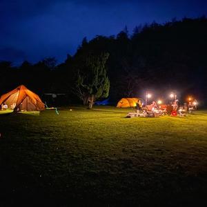 キャンプでバースデーお祝い。