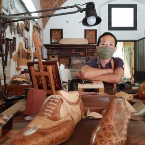 フィレンツェで唯一の木象嵌職人さんにお会いしました