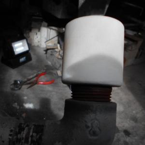 ガス窯バーナーヘッドの交換