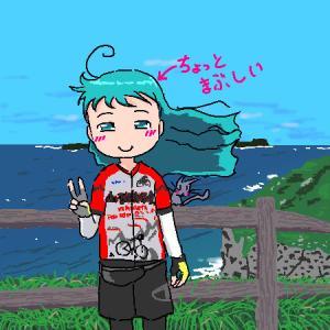 サンダーロードのサイクリングで、加部島まで行く