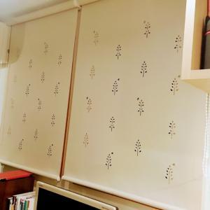 カーテンが付きました<ケ浦市 ピアノ エレクトーン くらの音楽教室>