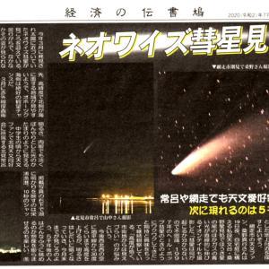 ネオワイズ彗星が伝書鳩で紹介されました 7/23