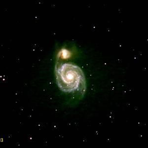 M51子持銀河と光軸調整 4/12