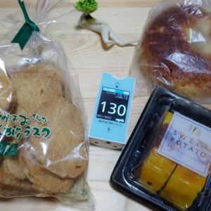 仕事が終わって ちょっと実家に寄ってきました。帰りに地元のパン屋さんで甘いものを・・・