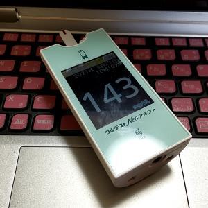 ファミレスバイトの休憩中。今日は朝からヒマめ。特に何もないけど血糖値を記録しておく