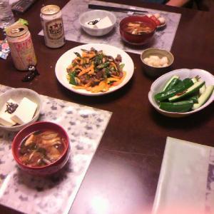 10/12 台風と晩御飯
