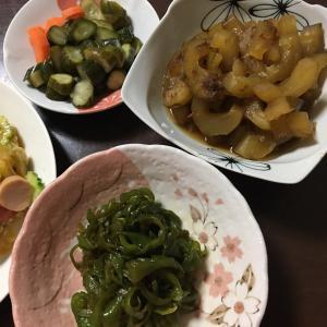 収穫した野菜で作りおき4品
