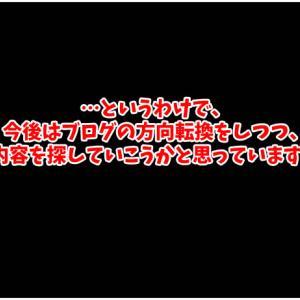 お久しぶりです。ブログの今後についてのお話です(*^▽^*)