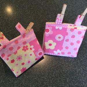 インコさん用バードテント♡ピンクのお花のパッチワーク風デザイン
