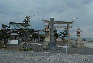 桑名城の住吉神社と七里の渡し公園(三重県桑名市)