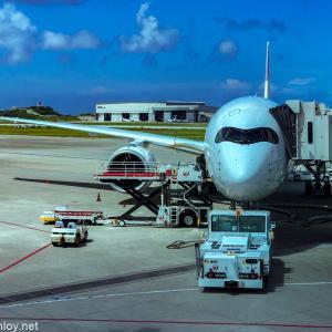 2度目の緊急事態宣言直前に4泊5日で沖縄に行ってきた / Vol.10 JAL904 那覇 – 羽田 搭乗記〜帰りは一番新しいA350 6号機〜