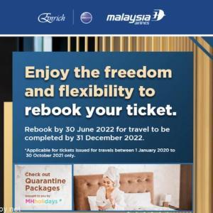 【information】これで最終対応?マレーシア航空 covit19対応 全てMH-Eバウチャーに変換で2022年6月30日までに予約2022年12月中旅行完了が条件