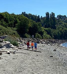 夏日ウィーク、男子3人引率してリッチモンドビーチに再びゴー!