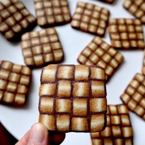 編んだみたいな模様のアイスボックスクッキー