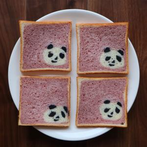 ワンポイント食パン パンダ 作りました