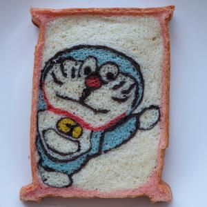 ドラえもんの金太郎飴パン 焼きました