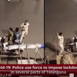 インド・ロックダウン1日目、警察が棒で叩いて外出者に警告!罰はスクワットと腕立て伏せ(違反すれば最長2年の禁固刑と多額の罰金)