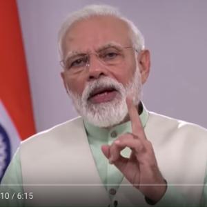 モディ首相・インド全国民へメッセージ。5日夜9時キャンドル灯火のお願い