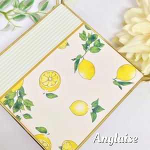 ポーセラーツ♡人気のレモン柄で鍋敷き