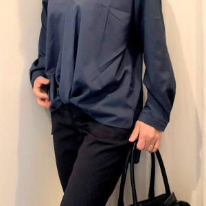 キーネックのシャツのコーデ 前身ごろをINしなくてもサマになるシャツ