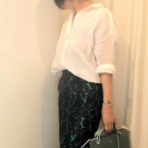 圧倒的に美しい生地のスカート。生地買いしたっていいじゃない?