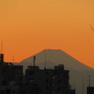 夕暮れ時の富士山!