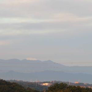 朝の富士山と夜の三日月