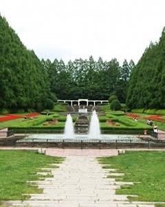 噴水広場の景観、