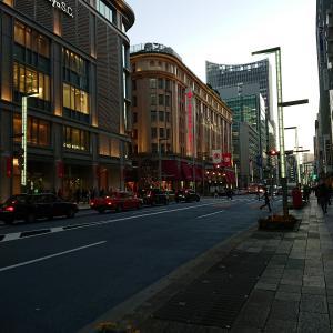 黄昏時の東京など