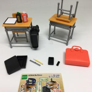学校の机と椅子と鞄+お習字道具 フィギュア レビュー