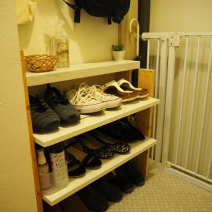 ぴったりサイズの棚をDIYして靴をスッキリ収納