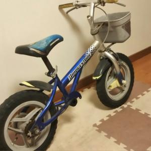 幼児用自転車をバランスバイクに再度しました!